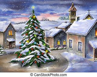 風景, クリスマス