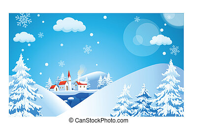 風景, 冬