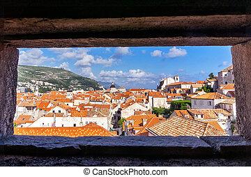 風景, 古い, dubrovnik, 町, croatia.