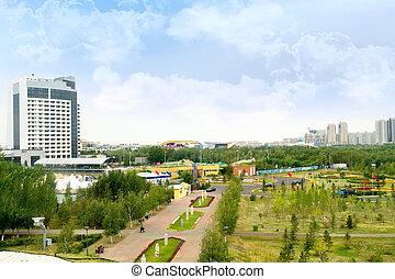 風景, 市の, astana.