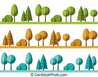 風景, 木, 背景