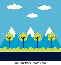 風景, 木, 自然
