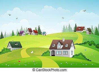 風景, 田園