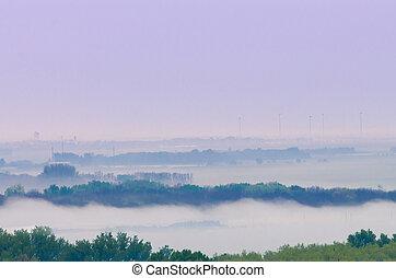 風景, 霧が濃い