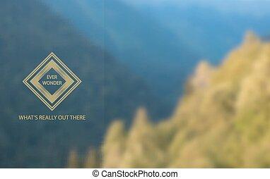 風景。, bblurred, 背景, 山