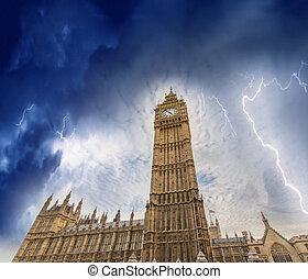 風暴, 在上方, 議會的房子, -, 倫敦