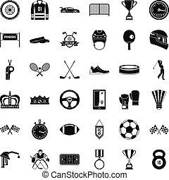 風格, 圖象, 集合, 簡單, 運動, 成就
