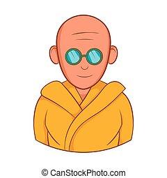 風格, 太陽鏡, 僧侶, 印第安語, 圖象, 卡通