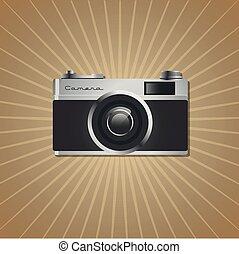 風格, 照像機, vintage., retro