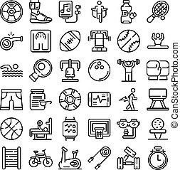 風格, 物理, 集合, 活動, outline, 圖象