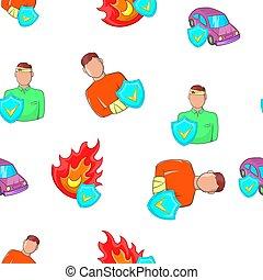 風格, 緊急事件, 圖案, 卡通