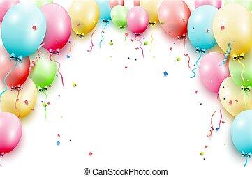 風船, テンプレート, birthday