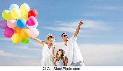 風船, 家族, カラフルである