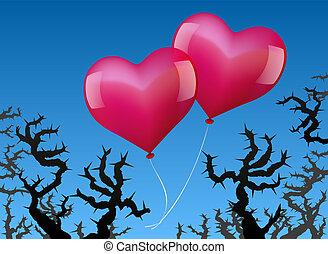 風船, 愛, 危険