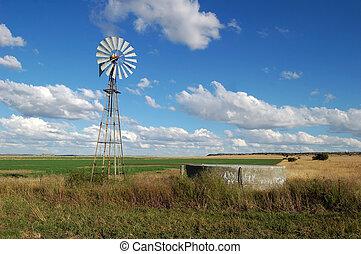 風車, 中に, アフリカ