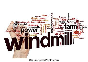 風車, 概念, 単語, 雲
