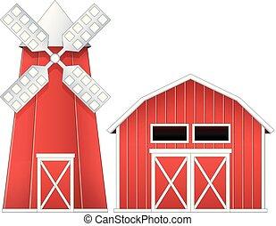 風車, 納屋