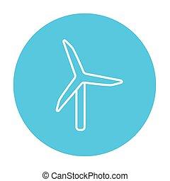 風車, 線, icon.
