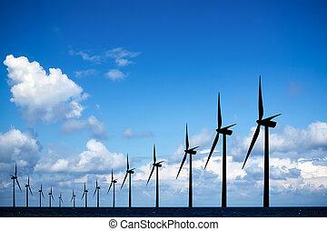 風車, 長い間, 横列