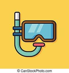 風鏡, 矢量, 游泳, 圖象