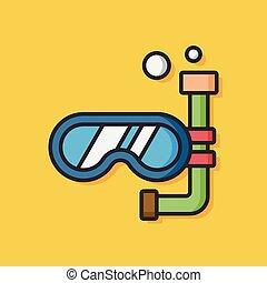 風鏡, 跳水, 矢量, 圖象