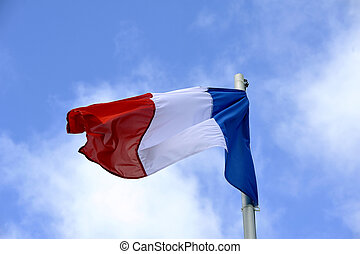 風, フランスの旗, なびくこと