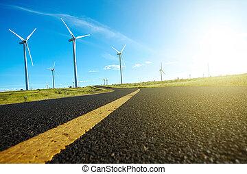 風, 世代, 味方, タービン, 力, 環境的に