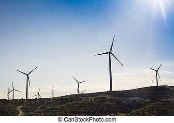風, 選択肢, タービン, エネルギー