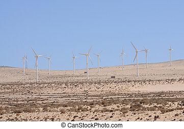 風, energy., タービン, 回復可能