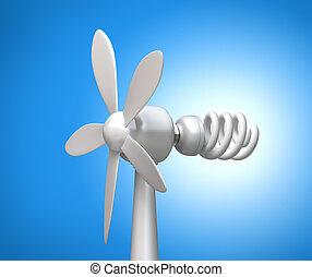 風, lamp., 現代, ジェネレーター, 3d