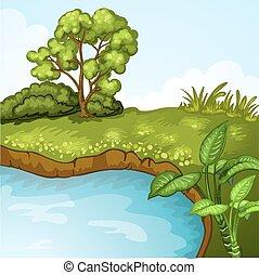 风景, 绿色