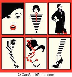 风格, 方式, 艺术, 流行音乐, 鞋子, 妇女, 腿