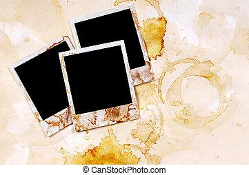 风格, 老, 葡萄收获期, 弄脏, 偏振片, 打印, 纸, 背景, 空白, 框架, 羊皮纸, 照片