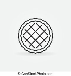 风格, outline, 馅饼, 矢量, 稀薄的线, 图标