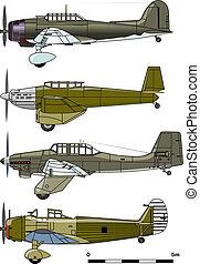 飛び込み, 爆撃機, 1930-s