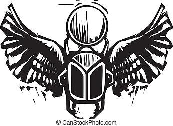 飛ぶ, オオタマオシコガネ