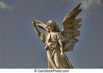 飛ぶ, 天使, 像