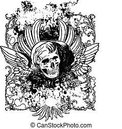 飛ぶ, 頭骨, 2, 装飾