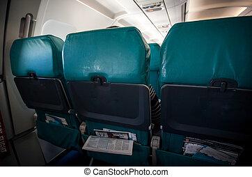 飛机, 費用, 低, 座位, 飛機, 行