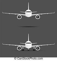 飛機, 集合, 馬達, 二, 插圖