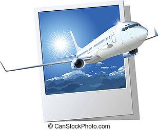 飛行機の コマーシャル