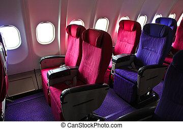 飛行機の 小屋, 席