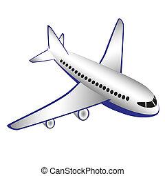 飛行機, イラスト, ベクトル
