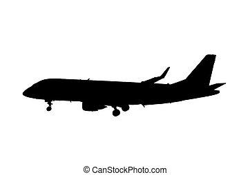 飛行機, シルエット