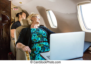 飛行機, 人々ビジネス, 睡眠