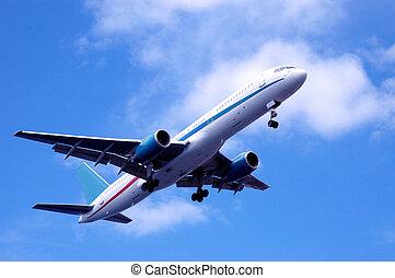 飛行機, 渡ること