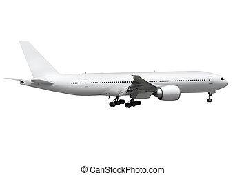 飛行機, 白い背景