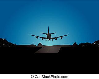 飛行機, 着陸