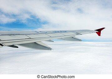 飛行機, 空, 光景