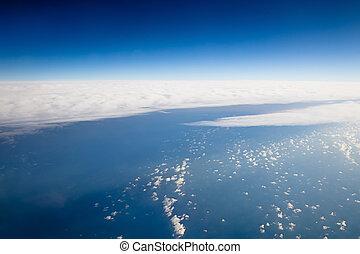 飛行機, 空, veiw